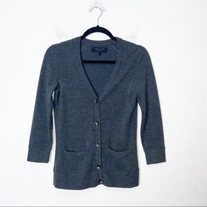 Rag & Bone Gray Wool Blend Cardigan Sweater